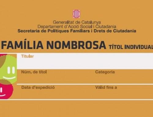 Grama fabricará e imprimirá las tarjetas de familia numerosa y monoparental de Cataluña
